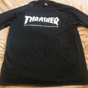 Black Thrasher Long Tee Shirt
